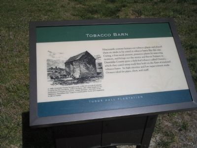 Tobacco Barn Marker image. Click for full size.