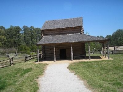 Tobacco Barn at Tudor Hall Plantation image. Click for full size.