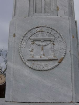 Oglethorpe Monument-State Seal image. Click for full size.