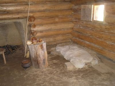 Inside a Slave Dwelling image. Click for full size.