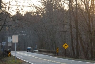 Creighton Road on the Chickahominy River (facing west). image. Click for full size.