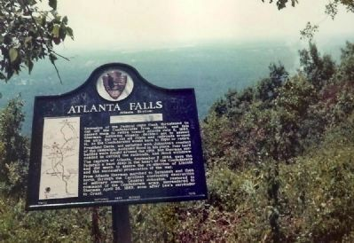 Atlanta Falls Marker on Crest of Kennesaw Mountain on a paved trail image. Click for full size.