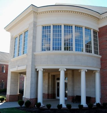 Captain Kimberly Hampton Memorial Library Front Portico image. Click for full size.
