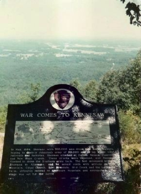 War Comes To Kennesaw Marker image. Click for full size.
