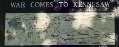 War Comes To Kennesaw Marker Map image. Click for full size.