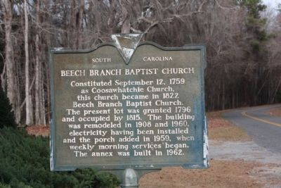 Beech Branch Baptist Church Marker image. Click for full size.