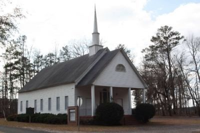 Beech Branch Baptist Church Marker, seen at left image. Click for full size.