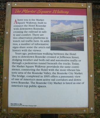 The Market Square Walkway Marker image. Click for full size.