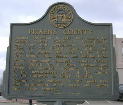 Pickens County Marker image. Click for full size.