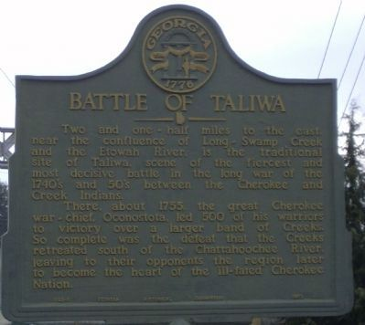 Battle of Taliwa Marker image. Click for full size.