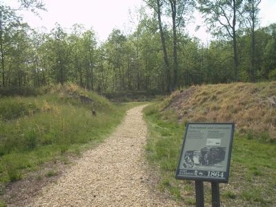 Marker on the Fort Harrison Trail image. Click for full size.