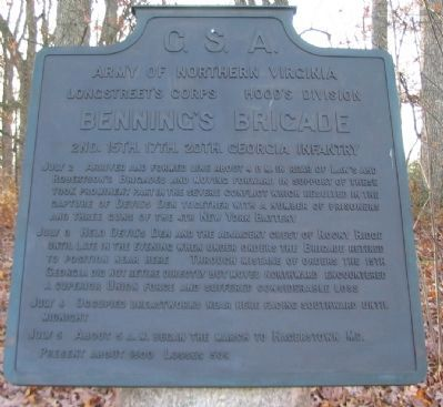 Benning's Brigade Tablet image. Click for full size.