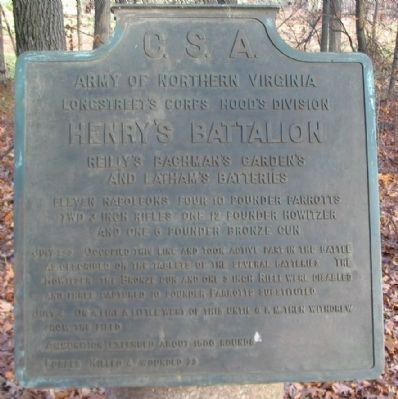 Henry's Battalion Tablet image. Click for full size.
