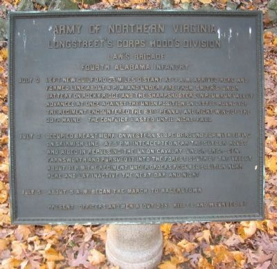 Fourth Alabama Infantry Marker image. Click for full size.