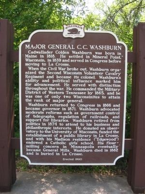 Major General C.C. Washburn Marker image. Click for full size.