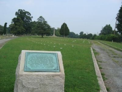 Oakwood Cemetery Confederate Section Tablet image. Click for full size.