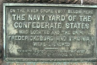 The Navy Yard of the Confederate States Marker image. Click for full size.