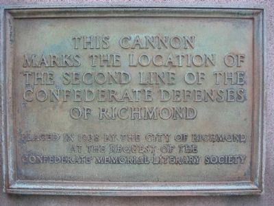 Second Line of the Confederate Defenses Marker image. Click for full size.