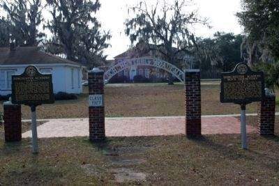 Dorchester Academy Marker, left , shares location with Dorchester Academy Boys Dormitory Marker image. Click for full size.