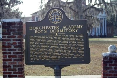 Dorchester Academy Boy's Dormitory Marker image. Click for full size.