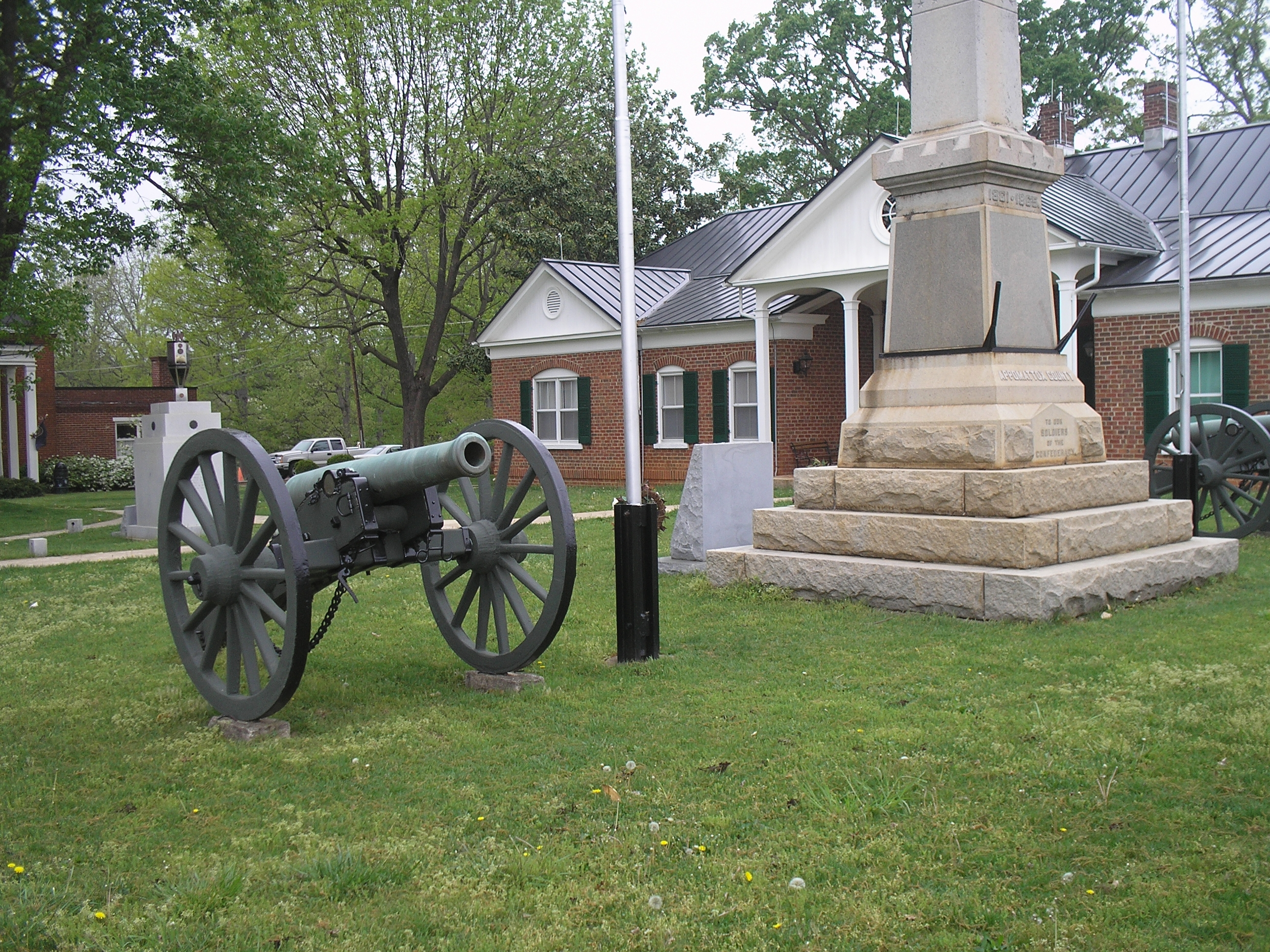 Civil War Cannon in front of Court House