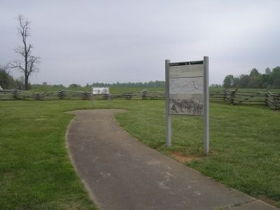 Marker in Appomattox Court House NHP image. Click for full size.
