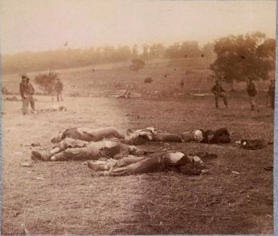 Federal Dead on First Day Battlefield image. Click for more information.
