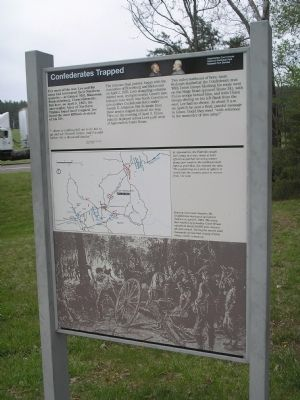 Confederates Trapped Marker image. Click for full size.