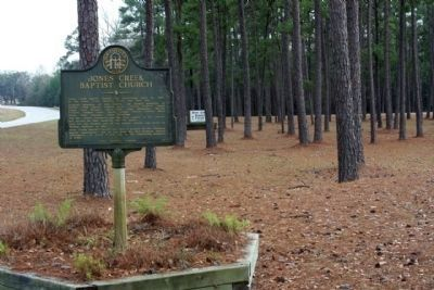 Jones Creek Baptist Church Marker, looking south on US 301 image. Click for full size.