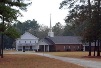 Jones Creek Baptist Church Old and New image. Click for full size.