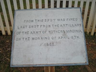 Last Artillery Shots Marker image. Click for full size.
