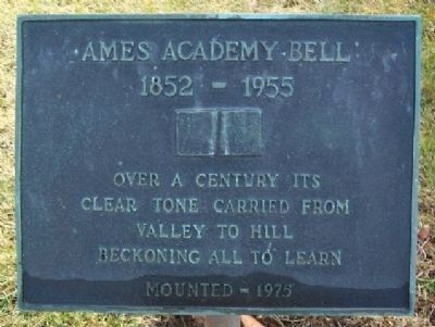 Ames Academy Bell Marker image. Click for full size.