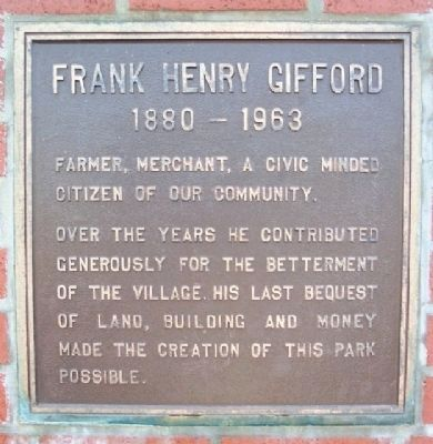 Frank Henry Gifford Marker image. Click for full size.
