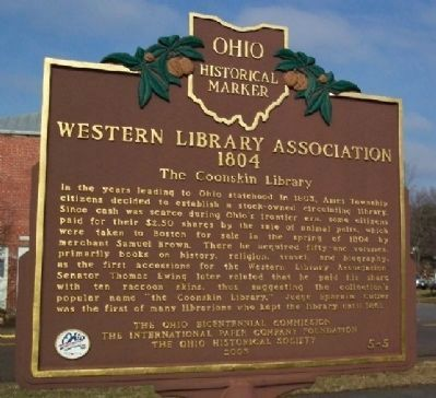 Western Library Association Marker image. Click for full size.