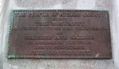 Athens County Civil War Soldiers and Sailors Memorial Dedication image. Click for full size.