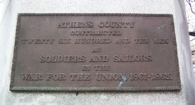 Athens County Civil War Soldiers and Sailors Memorial Contribution image. Click for full size.