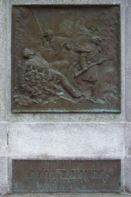 Athens County Civil War Soldiers and Sailors Memorial Bronze Panel and Quote image. Click for full size.