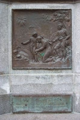 Athens County Civil War Soldiers and Sailors Memorial Bronze Panel and Commissiones image. Click for full size.