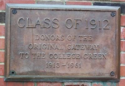 Ohio University Class Gateway Class of 1912 Marker image. Click for full size.