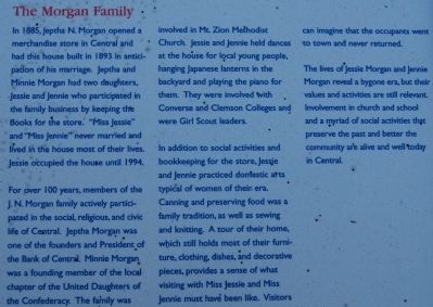 The Central History Museum Marker - The Morgan Family image. Click for full size.