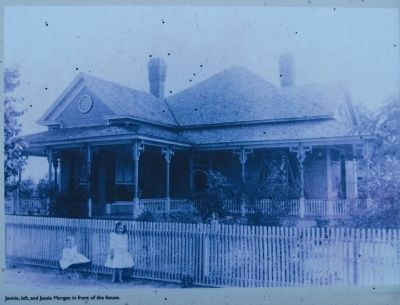 Morgan House (mid-1900s)<br>Jennie, Left, and Jessie Morgan in Front of the House image. Click for full size.
