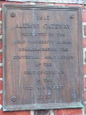Ohio University 1915 Alumni Gateway Marker image. Click for full size.