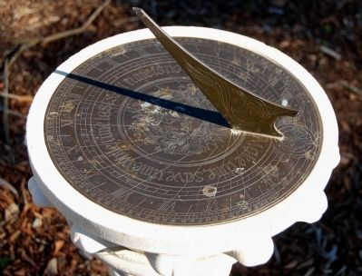 Sundial Located in the Morgan House Gardens image. Click for full size.