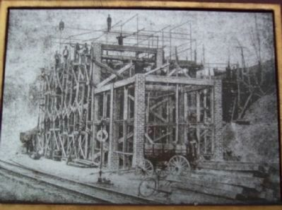 Hisylvania Coal Co. Mine No. 22 Tipple Under Construction image. Click for full size.