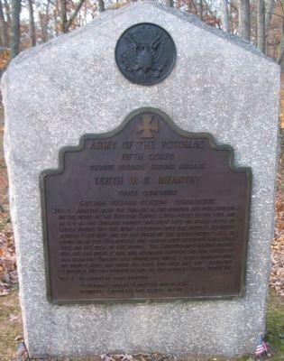 Tenth U.S. Infantry Regiment Tablet image. Click for full size.