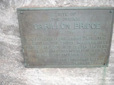 Original Carillon Bridge Marker image. Click for full size.