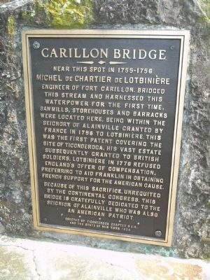 Carillon Bridge Marker image. Click for full size.