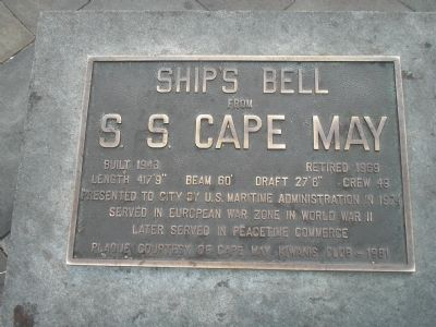 S. S. Cape May Marker image. Click for full size.