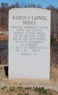 Marion P. Carnell Bridge Marker image. Click for full size.