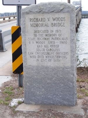 Richard Woods Memorial Bridge Marker image. Click for full size.